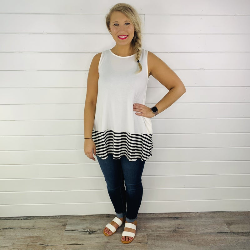DOORBUSTER Sounds About Stripe Tank - 4 colors!