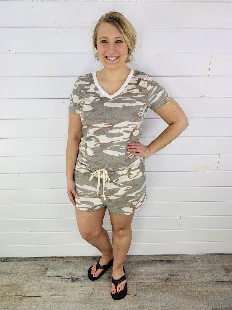 PLUS/REG HoneyMe Camo Lounge Shorts