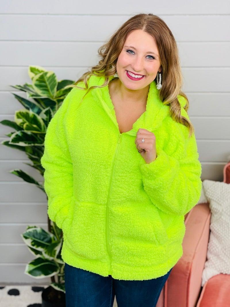 DOORBUSTER PLUS/REG Bundled Up Sherpa Jacket- 5 Colors!