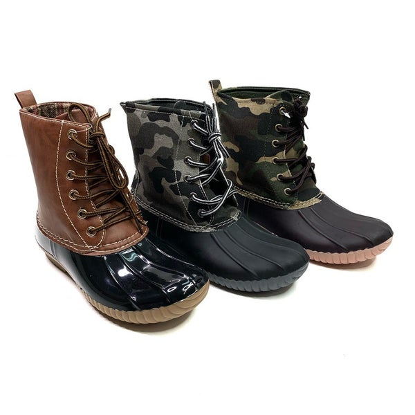 Lace Up Duck Boot