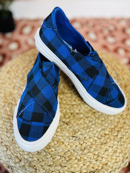 Very G Playing In Plaid Sneakers