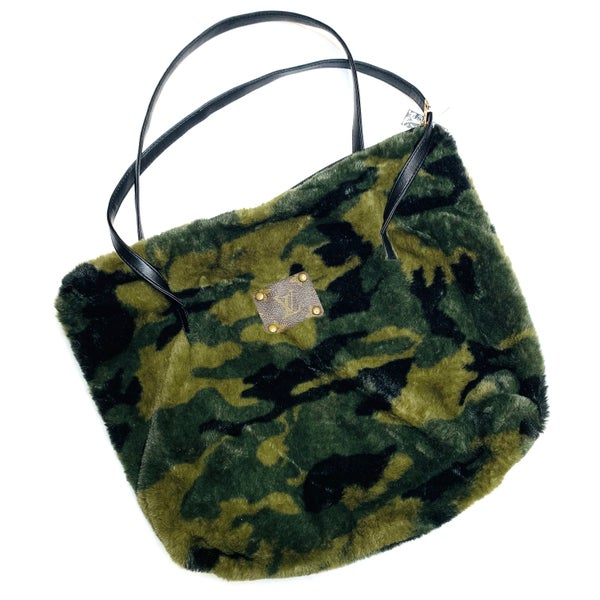 Authentic Upcycled LV Large Camo Handbag