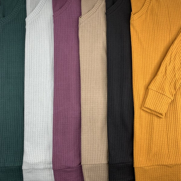 Plus/Reg Deal of the Day Lightweight Waffle Knit Long Sleeve