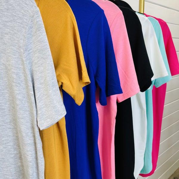 DOORBUSTER Plus/Reg Keep It Simple Basic Tee - 8 Colors!