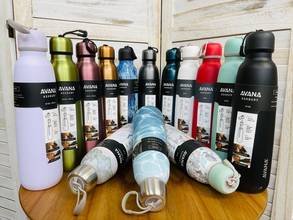 Avana 24 Oz Water Bottle-14 COLORS!