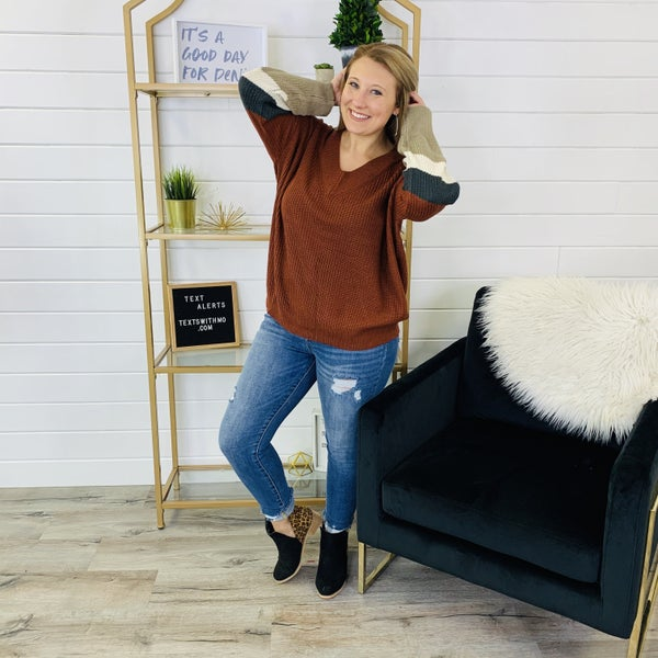 PLUS/REG Friendsgiving Sweater- 2 Colors!