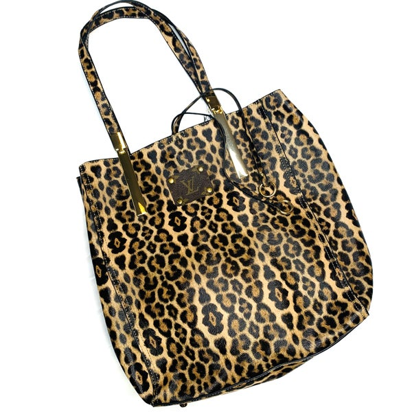 Authentic Upcycled LV Large Cheetah Handbag