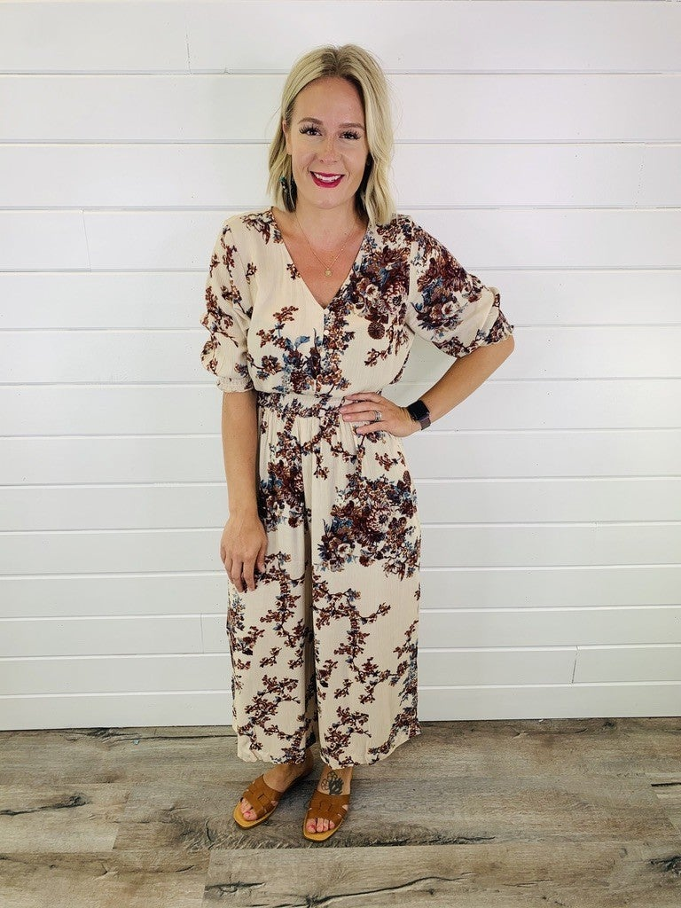 Hey Girl Floral Jumpsuit