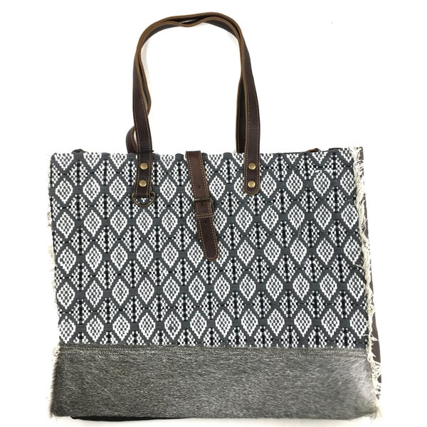 Myra Bag Jacquard Diamond Print Weekend Tote