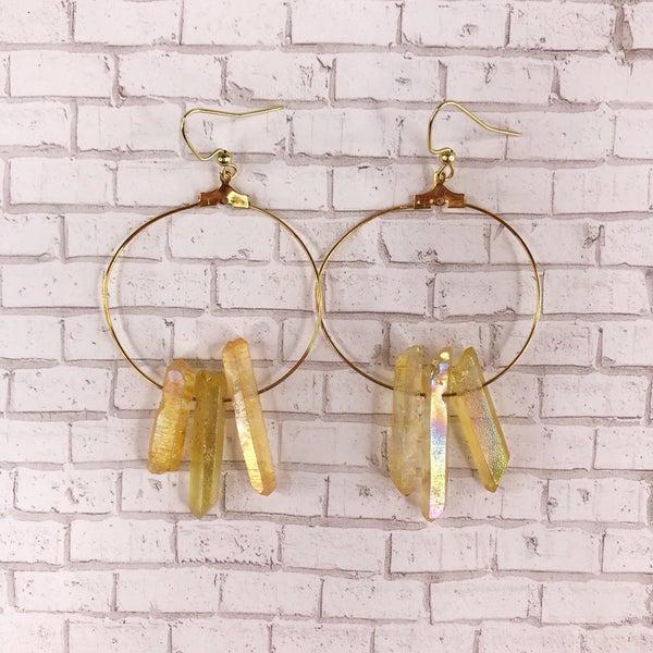 Custom MOCO Natural Crystal Stone Earrings