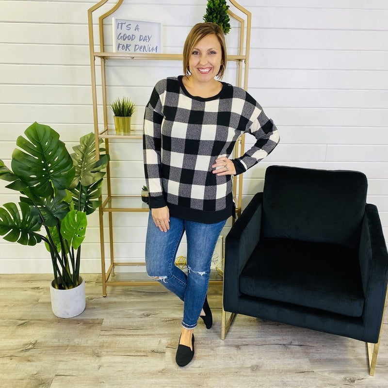 PLUS/REG Give It To Me Plaid Top
