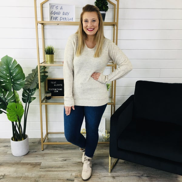 PLUS/REG Charm The Room Sweater- 2 Colors!