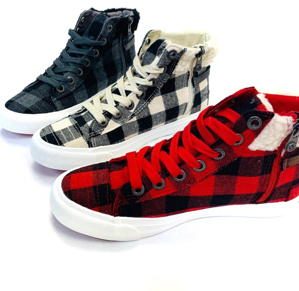 Blowfish Buffalo Plaid High Top Sneakers- 3 Colors!