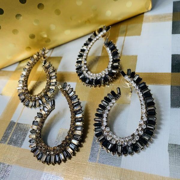 Glass Tear Drop Earrings- 2 Colors!