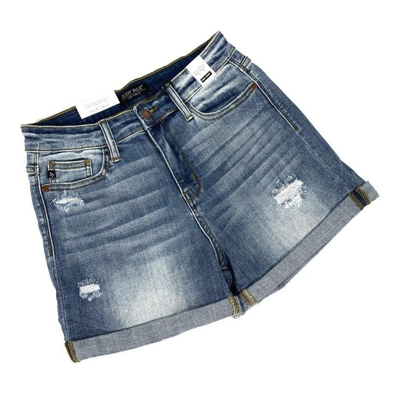 Plus/Reg Judy Blue Ocean Avenue Light Wash Shorts