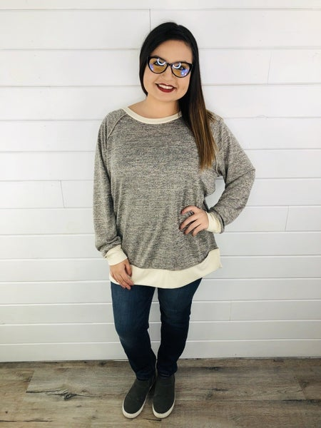 PLUS/REG HoneyMe Soft Sweater Crewneck
