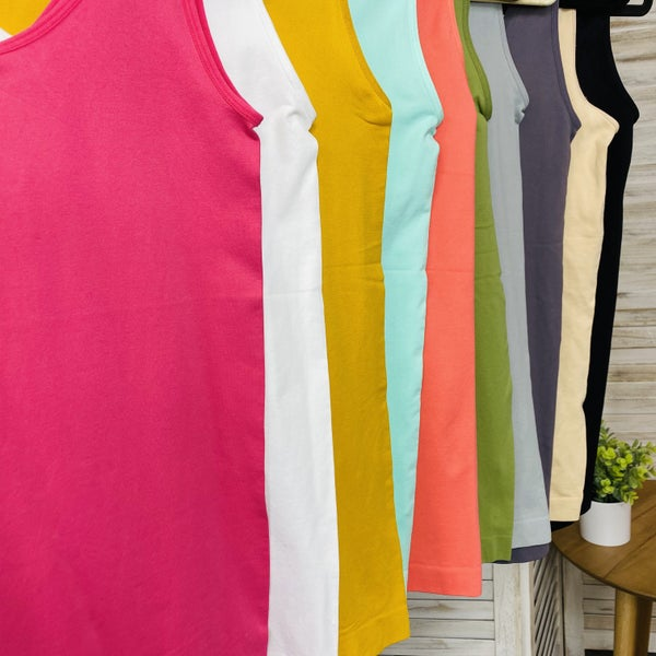 DOORBUSTER PLUS/REG Back And Better Than Ever Shapewear Tank- 10 Colors!