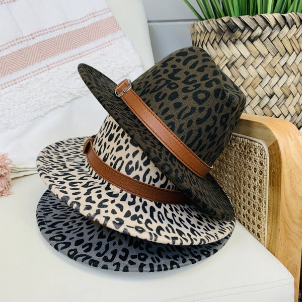 Leopard Fall Felt Hat- 3-colors!