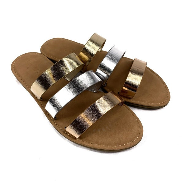 DOORBUSTER Metallic Strappy Sandal