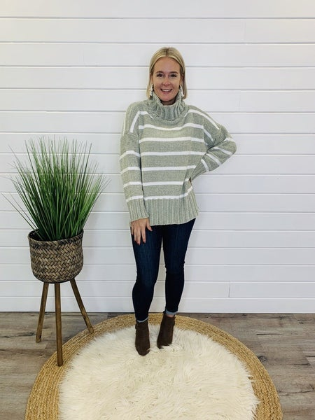 Stay Striped Sweater- 2 Colors!