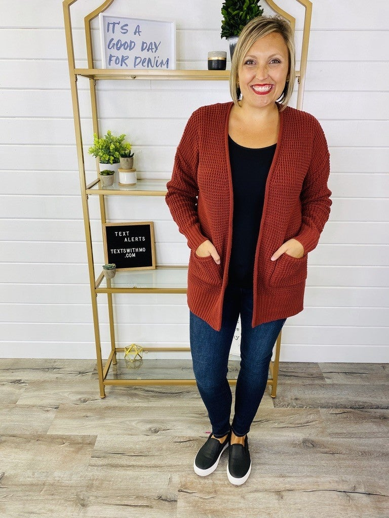 DOORBUSTER PLUS/REG Knit Was Nice To Know You Cardi- 4 Colors!