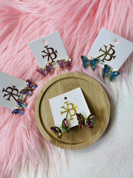 Karli Buxton Butterfly Studs-4 Colors!