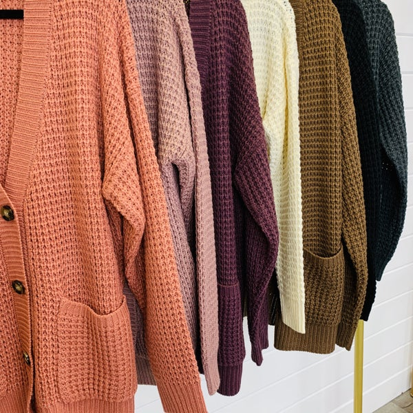 DOORBUSTER PLUS/REG Most Wanted Knit Cardi- 8 Colors!
