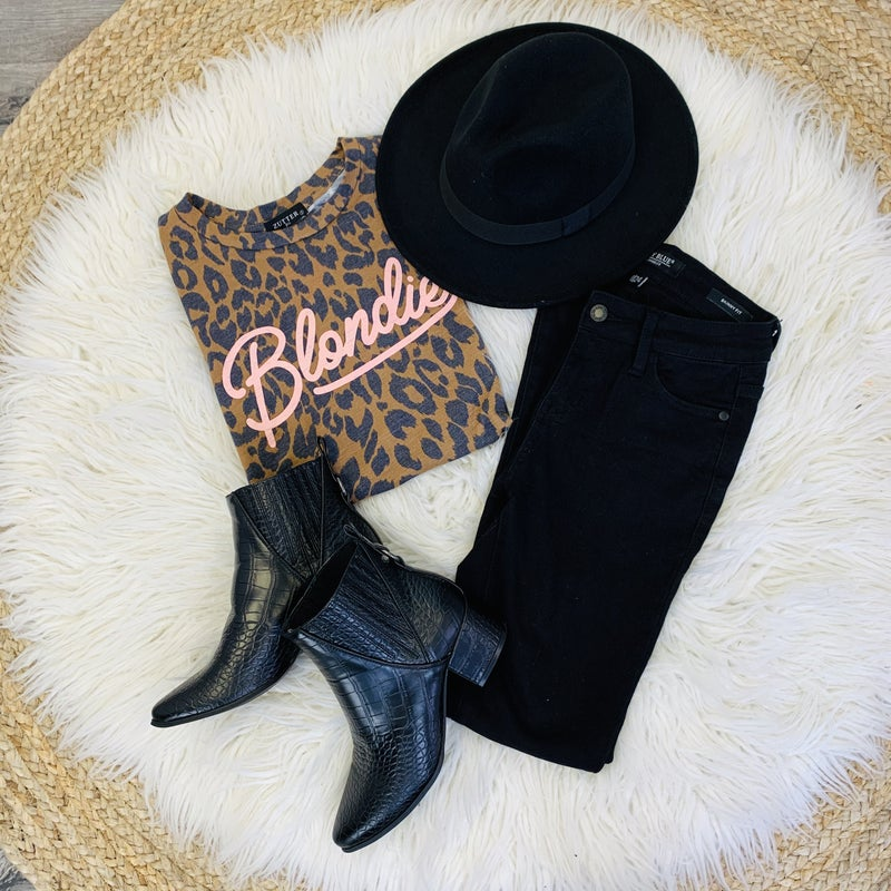 PLUS/REG Leopard Blondie Tee