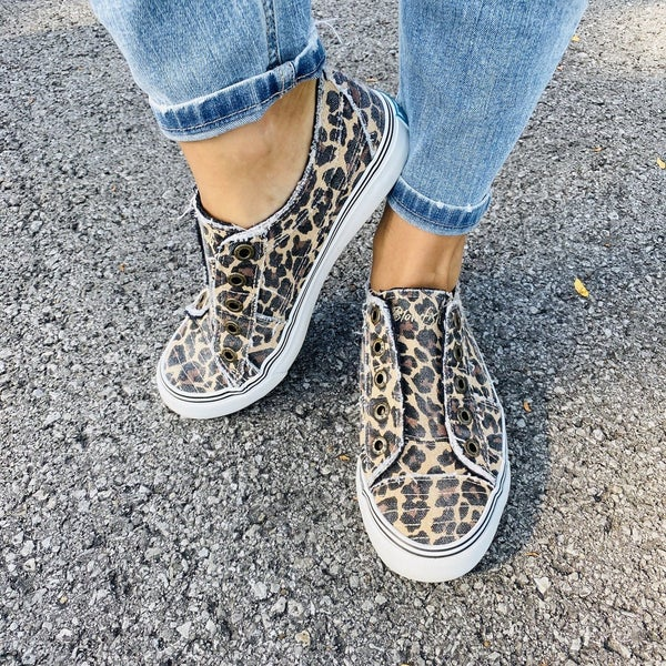 Blowfish Leopard Slip On Sneakers