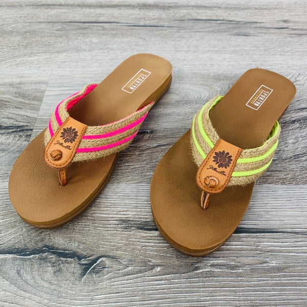 Yellowbox Neon Memory Foam Flip Flops -- 2 Colors!