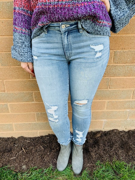 KanCan Blessed and Distressed Skinnies