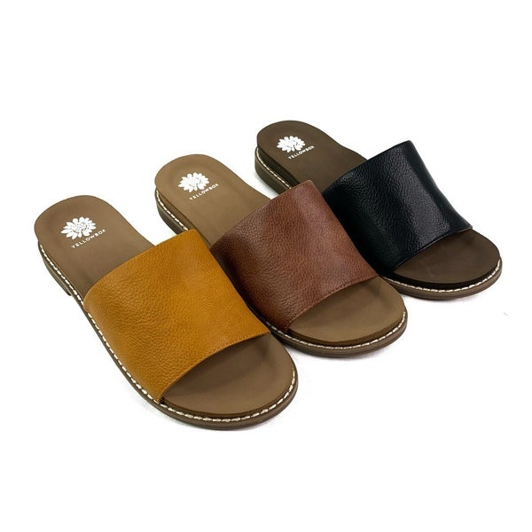 RESTOCK! Yellowbox Vegan Leather Slide