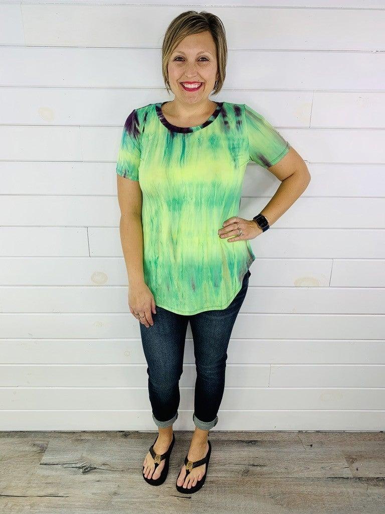 PLUS/REG DOORBUSTER! Tie Dye Flowy Tee - 4 Colors!