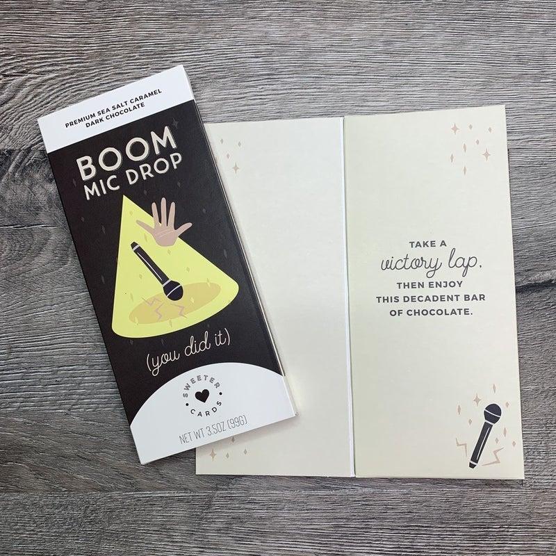 Congratulations Mic Drop Chocolate Greeting Card