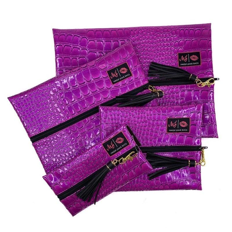 Makeup Junkie Purple Kind of Pink Bag