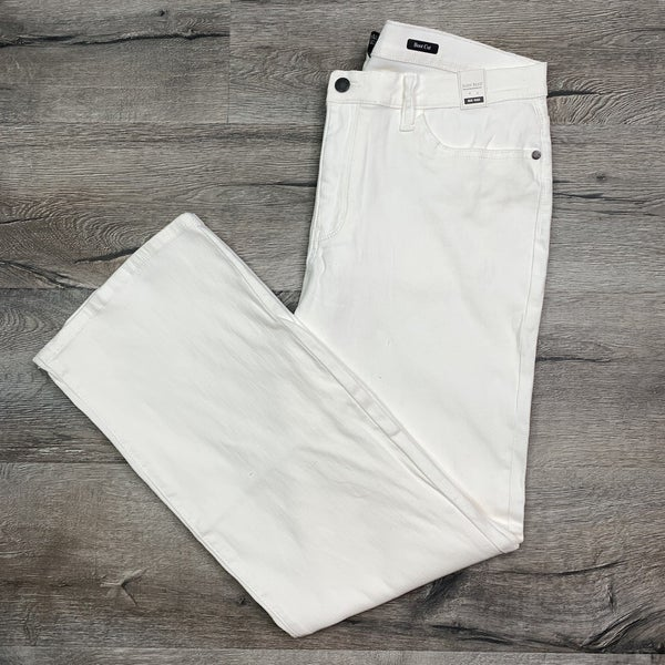 PLUS Judy Blue Ivory Wide Leg Jeans