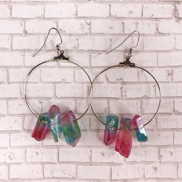 Custom MOCO Crystal Ombre Stone Earrings