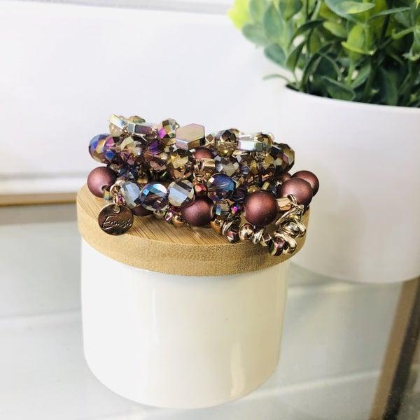 Erimish Perfectly Plum Stack Bracelet- 2 Sizes!