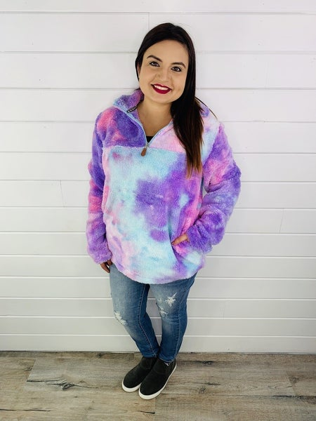 Adult Mermaid Sherpa Zip Pullover