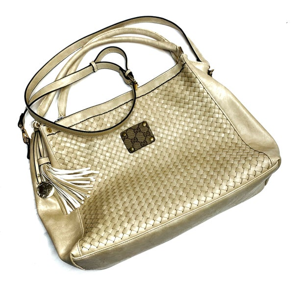Authentic Upcycled Gucci Large Ivory Handbag