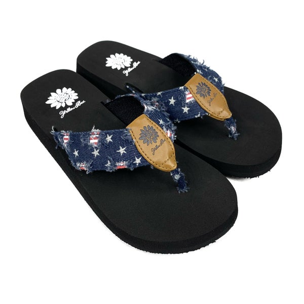 Yellowbox Stars and Stripes Flip Flops