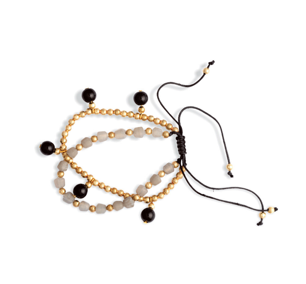 Myra- Beaded Double Stacked Bracelet