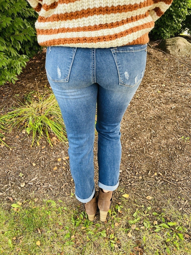 Tricot By C'est Toi Movin' and Groovin' Boyfriend Jeans