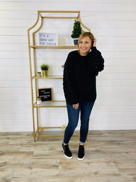 Pick Of The Patch Sweater- 4 Colors!
