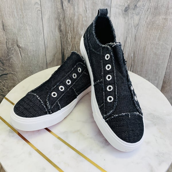 Corky's Black Denim Sneakers