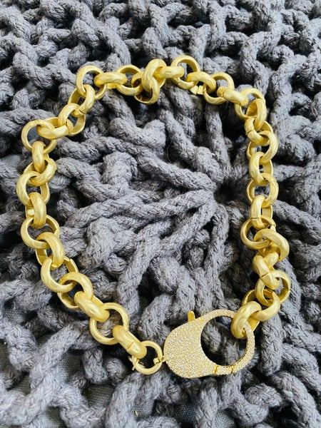 Karli Buxton Chunky Hammered Matte Gold Chain- 2 LENGTHS!