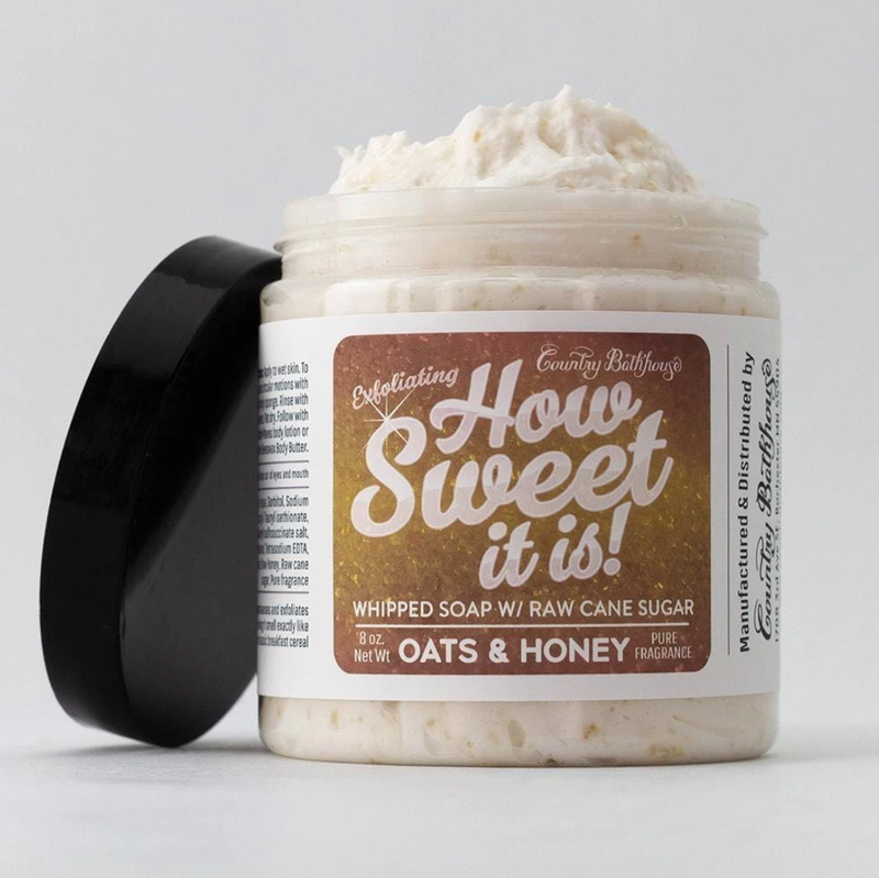 How Sweet It Is! Whipped Soap with Raw Cane Sugar