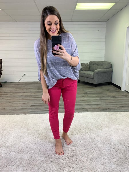 Plus/Reg Judy Blue Hot Pink (PAANNKK) Skinny Jeans