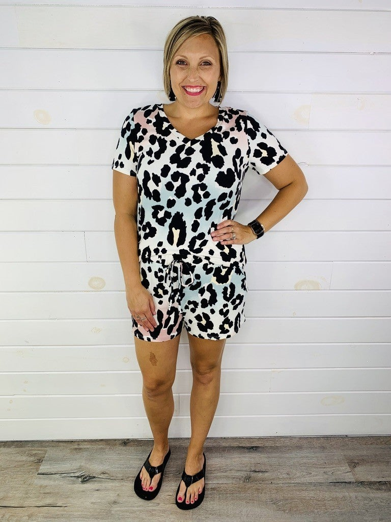 PLUS/REG HoneyMe Ombre Cheetah Lounge Shorts