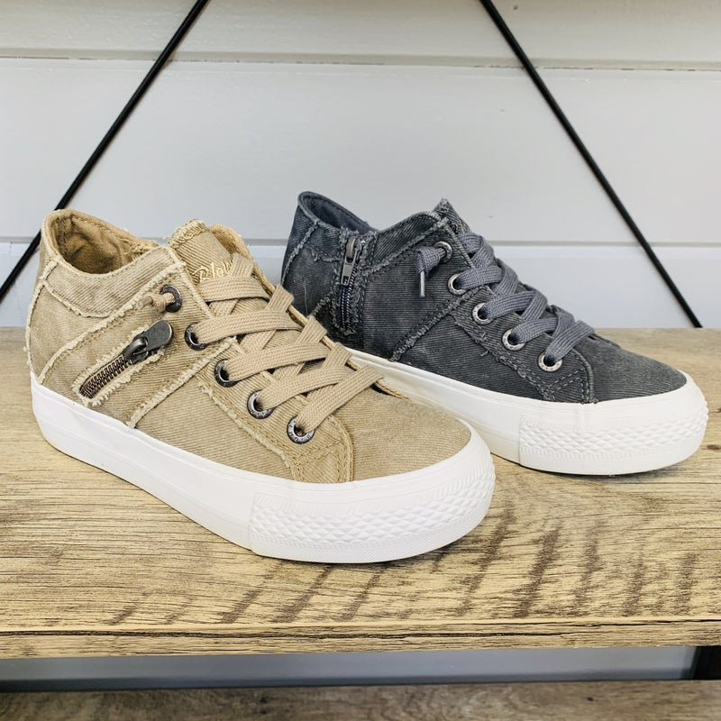 Blowfish Lace Up Sneakers With Zipper- 2 Colors!